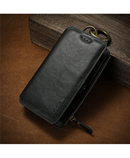 FLOVEME Black Leather Mobile Wallet Case